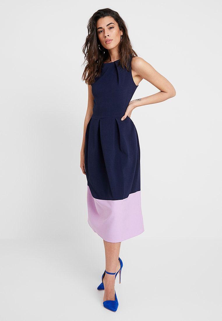 Photo of Closet LONDON MIDI DRESS Navy summer dress Zalando.it Th …