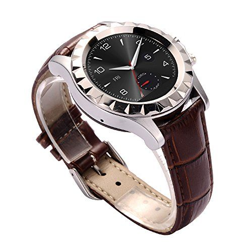 JideTech Leather Waterproof IP67 Bluetooth Smart Watch With Heart Rate ECG Thermometer Function (Sliver) JideTech http://www.amazon.co.uk/dp/B012C6Y8P2/ref=cm_sw_r_pi_dp_no87wb0F91ZGA