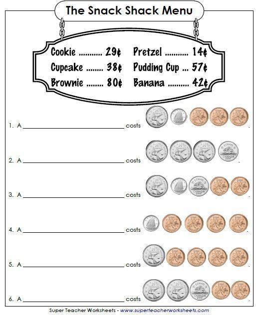 Cute Worksheet Money Math Money Worksheets Money Math Worksheets Canadian money worksheets grade pdf