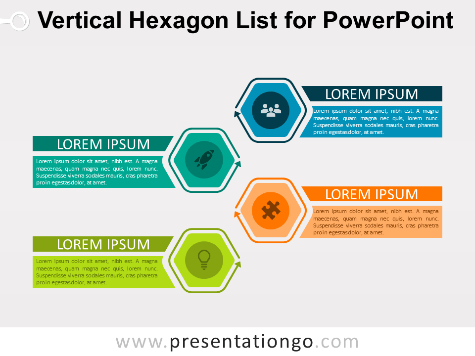 Vertical Hexagon List For Powerpoint Presentationgo Com Powerpoint Powerpoint Slide Designs Business Powerpoint Templates