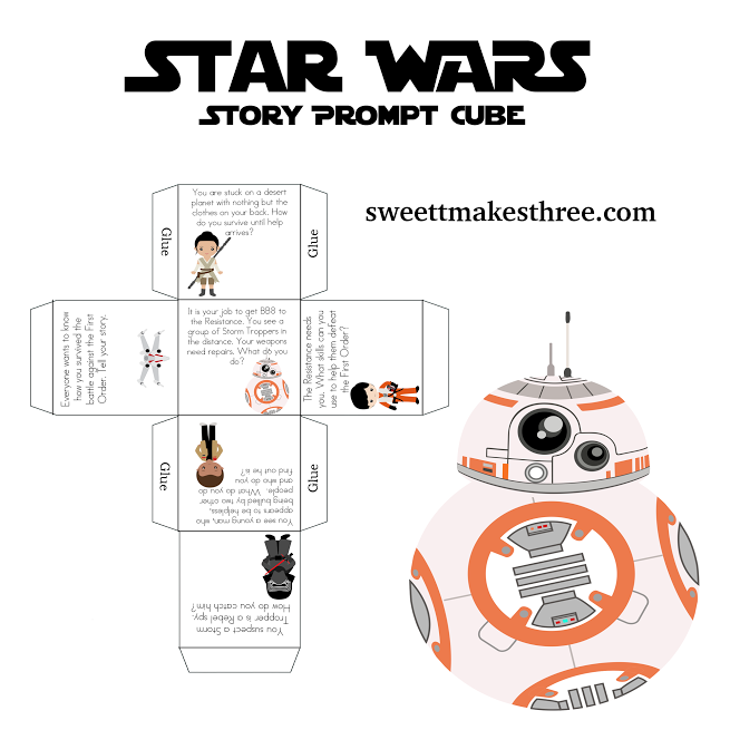 image relating to Star Wars Printable Activities identify Absolutely free Star Wars Printable Tale Dice Crafts for Grownups