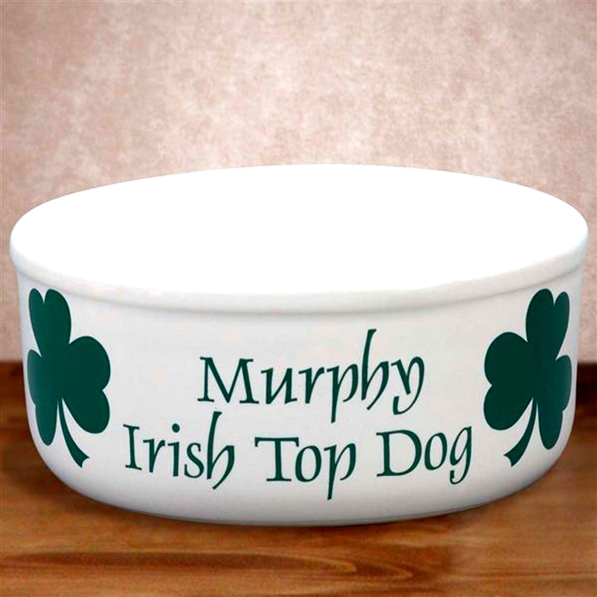 Personalized irish dog bowl irish baby gifts more pinterest personalized irish dog bowl pet giftsbaby negle Gallery