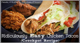 Ridiculously Easy Chicken Tacos (Crockpot Recipe)