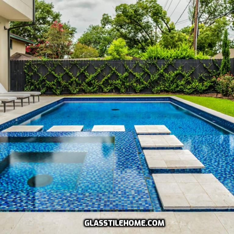 Reflections Blend Aqua Blues And White 1x1 Swimming Pool Tiles Swimming Pool Prices Glass Pool