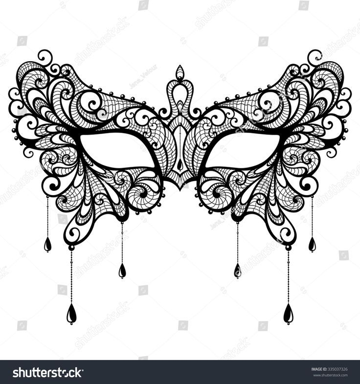Image Result For Lace Masquerade Mask Template  Mardi Gras