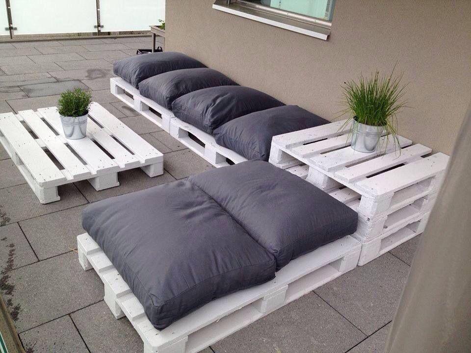 Diy Budget Loungebank : Palet loungebank balkon deko pallet furniture