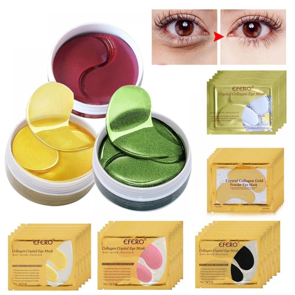 Máscara De Colágeno Dorado Para El Cuidado De Los Ojos Parches De Proteína De Suero Removedor Hidratante Cuidado De Los Ojos Cuidado De Ojos Cuidado De La Piel