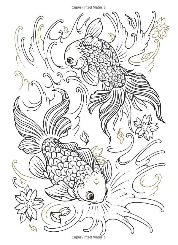 Tattoo Coloring Book Oliver Munden Jo Waterhouse 9781780670119 Amazon Com Books Tattoo Coloring Book Fish Coloring Page Animal Coloring Pages
