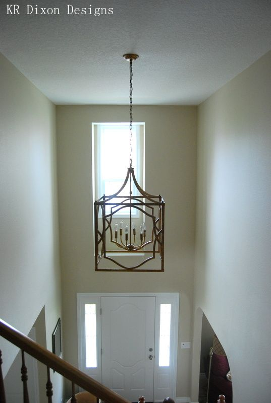 2 Story Foyer Lighting Lanterns Kr Dixon Designs Entryway