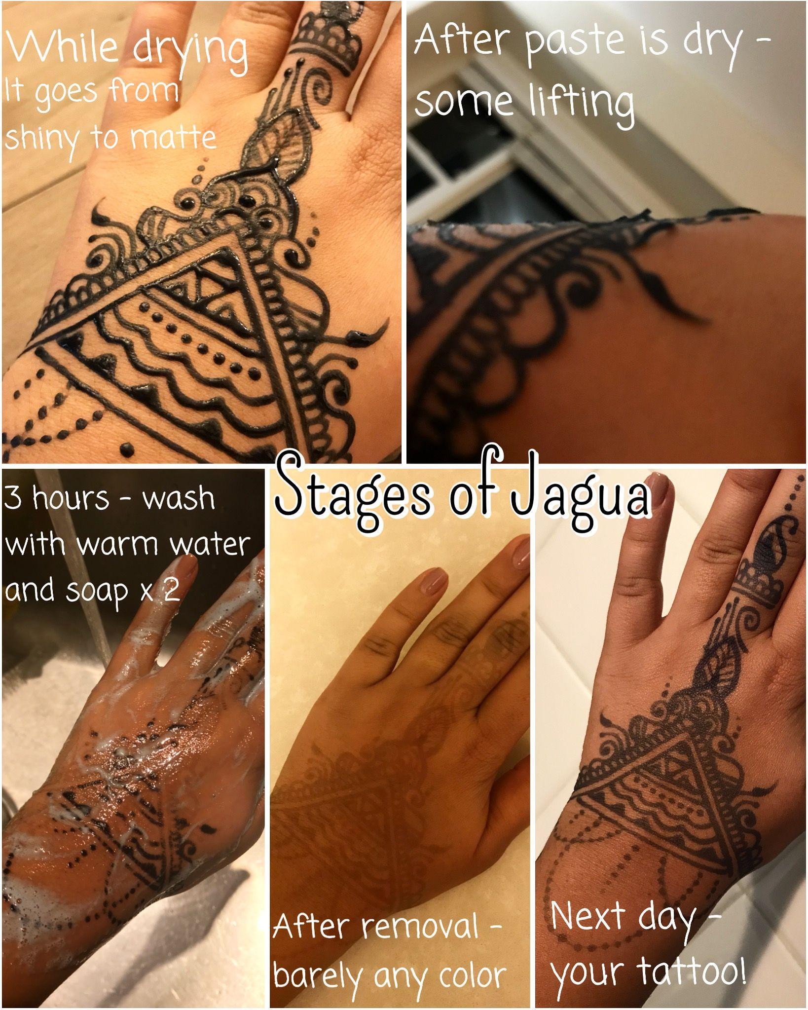 fa39e34af How to take care of your jagua tattoo. Jagua tattoo stain progression!  Instagram: @paisleysandswirls Henna in Houston Paisleysandswirls@gmail.com