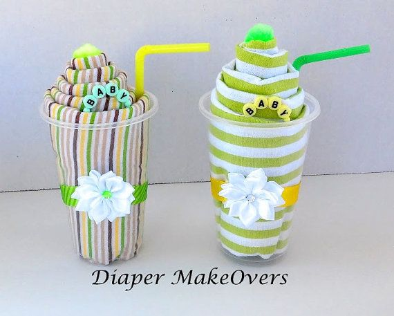 Receiving Blanket Milk Shake Gift Unique Baby by DiaperMakeOvers