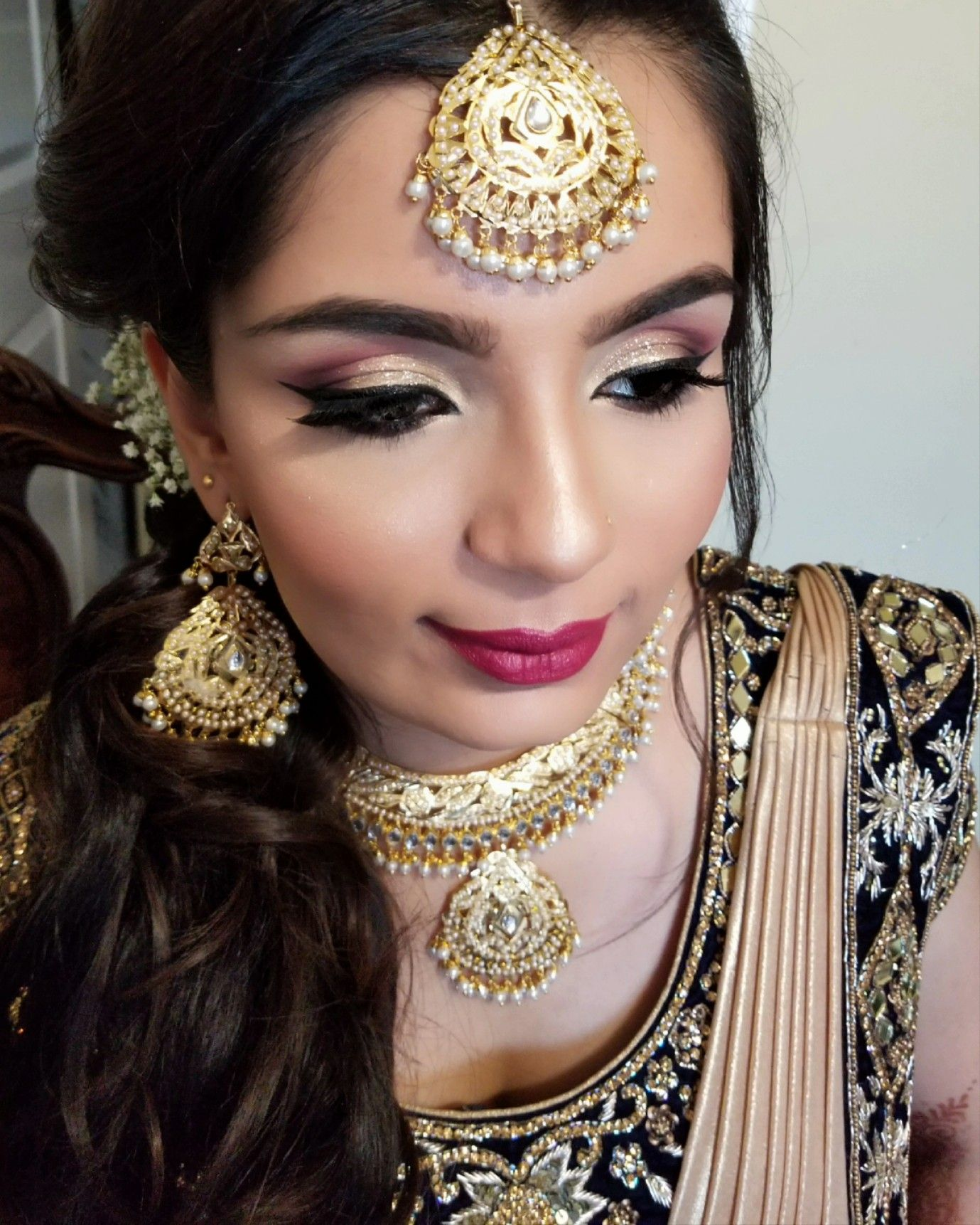 makeup and hair done by me edmonton makeup artist east indian bridal