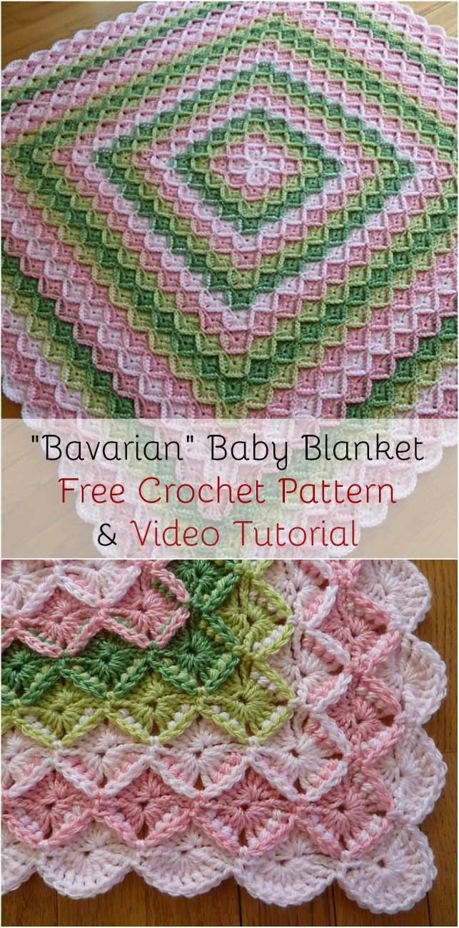 Cozy] Bavarian Baby Blanket Free Crochet Pattern & Video Tutorial ...