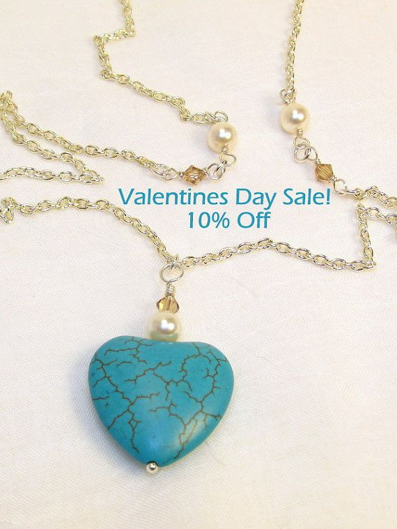 Blue Heart with Silver and Swarovski Crystals and by ThreePineHill