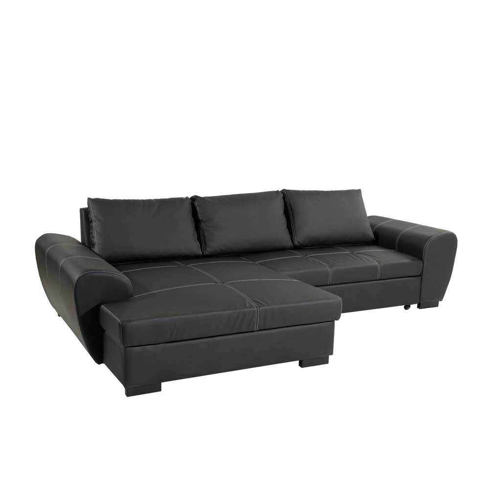 ecksofa mit schlaffunktion und bettkasten schwarz jetzt bestellen unter https moebel. Black Bedroom Furniture Sets. Home Design Ideas