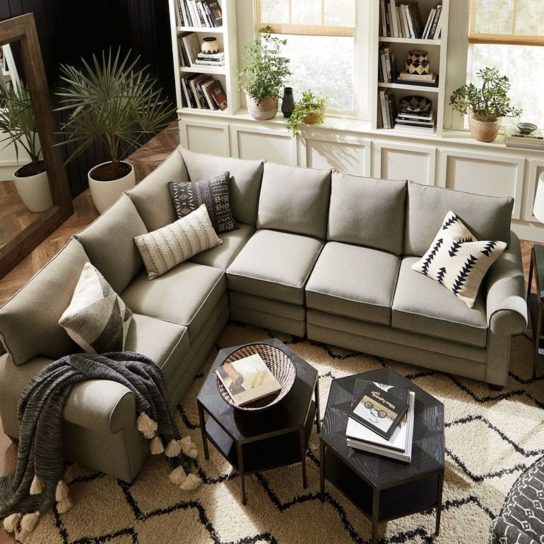 Alexander Roll Arm Large L Sectional Family Room Sectional Large Sectional Living Room Love Sac Sectional Family Rooms