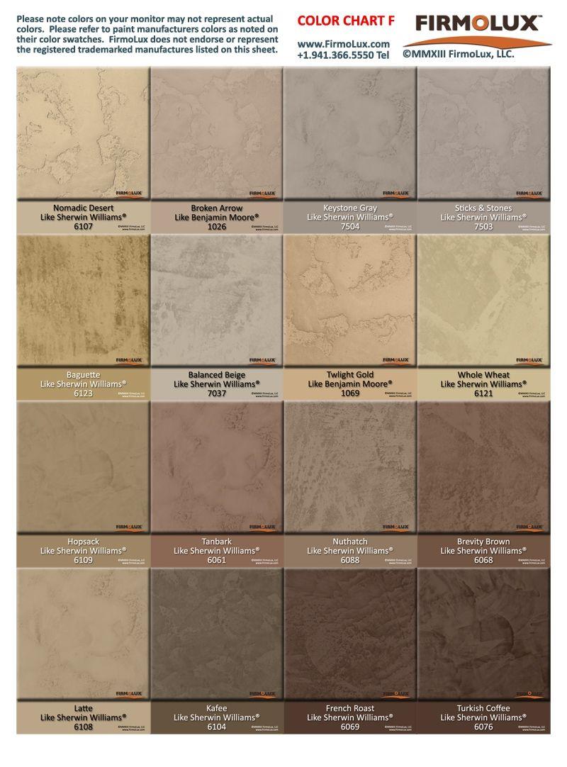 Plaster Paint Colors : Behr venetian plaster color chart paint
