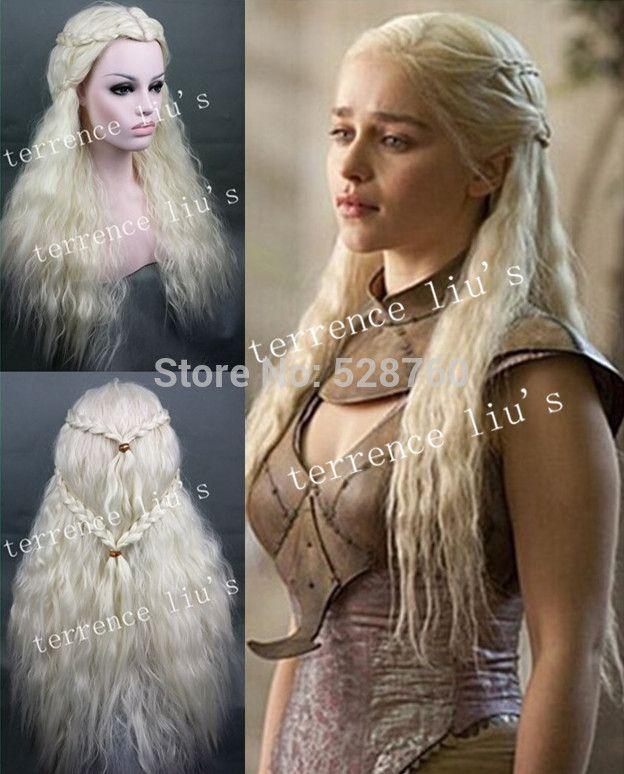 Game of Thrones Daenerys Targaryen Wig Long Braid Wavy