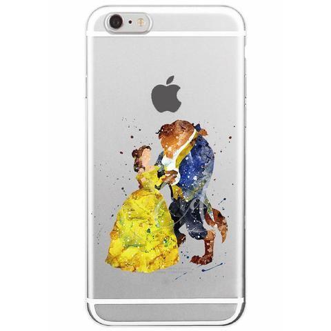 Disney Aquarelle Beauty The Beast Soft Iphone Case Flexible