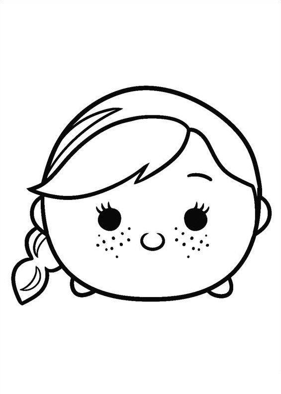 disney tsum tsum para colorear anna frozen | Dibujos1 | Pinterest ...