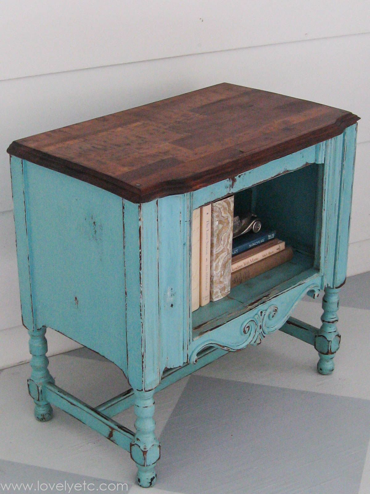 My favorite little aqua redo | Aqua paint, Painting furniture and Aqua