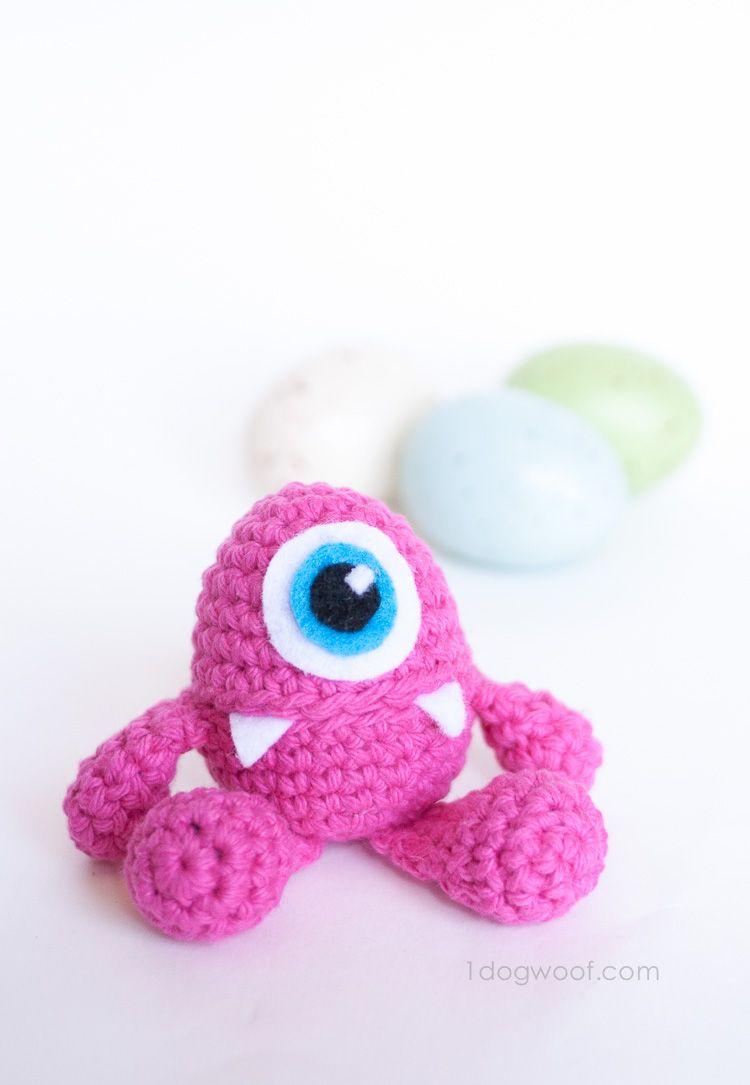 Little Monster Easter Egg Crochet Pattern | Pequeños monstruos, El ...