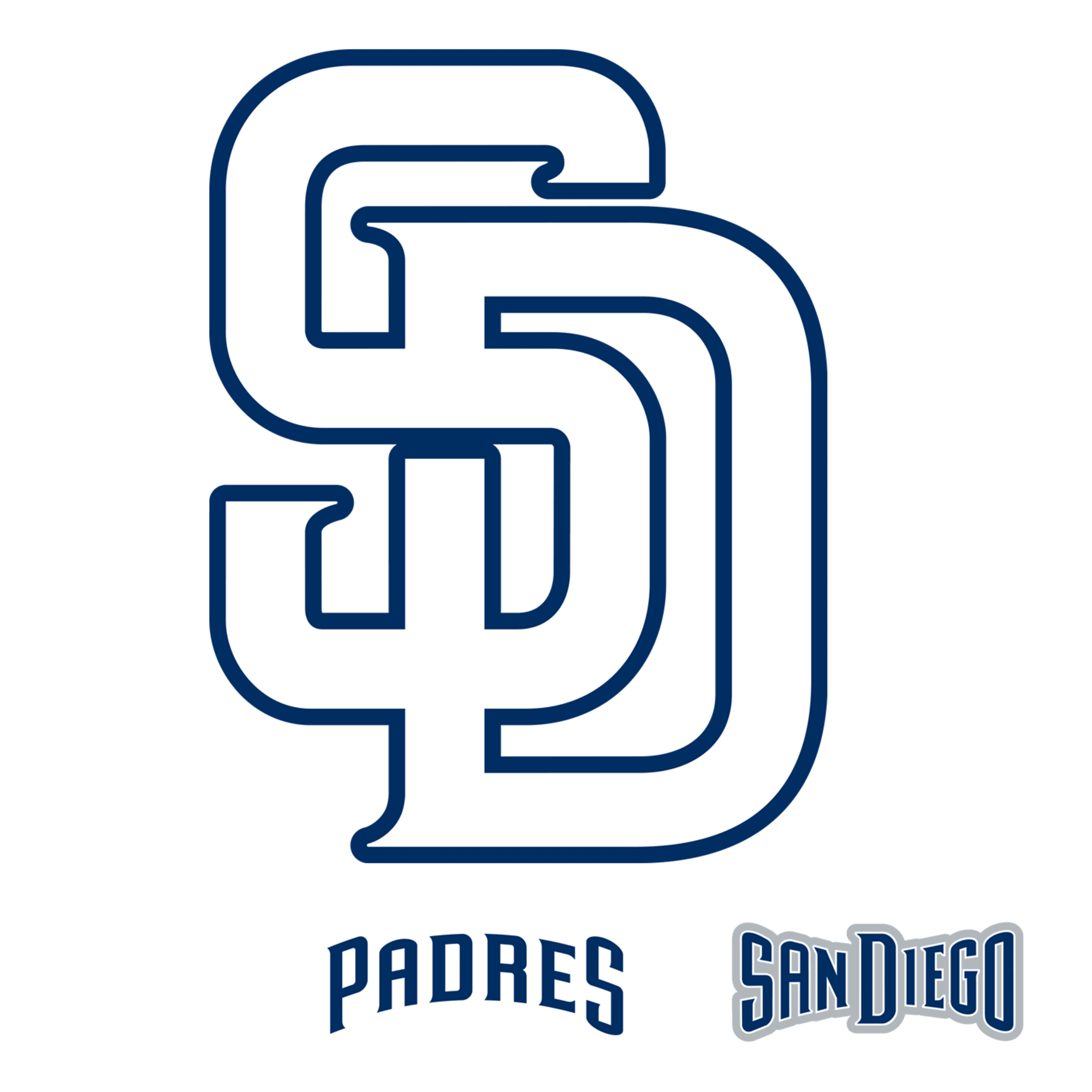 San Diego Padres Logo Large Officially Licensed Mlb Removable Wall Decal San Diego Padres Removable Wall Decals Diego