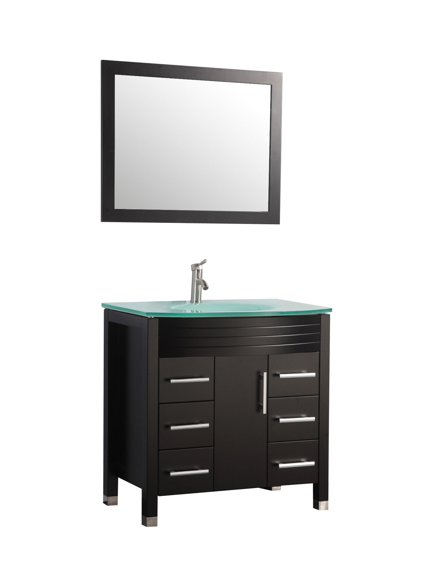 Image Of Figi Single Sink Bathroom Vanity Set with Mirror Wayfair