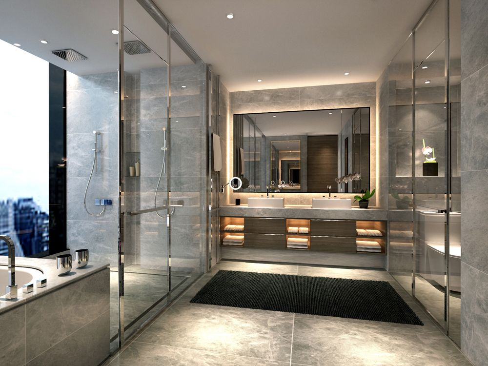 Attirant Bathroom Designs · Interior Of A Luxury Apartment