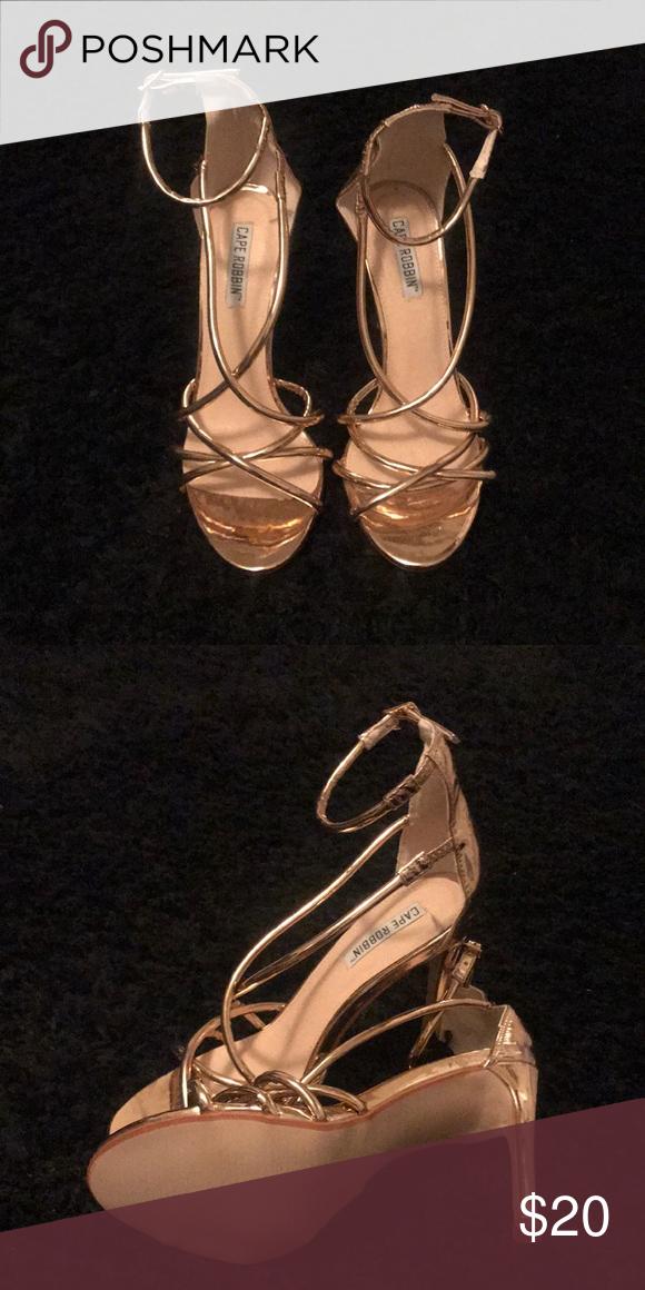 c220481f3d5 Rose gold 2 1/2 inch heels Brand new/never worn Fashion Nova Shoes ...