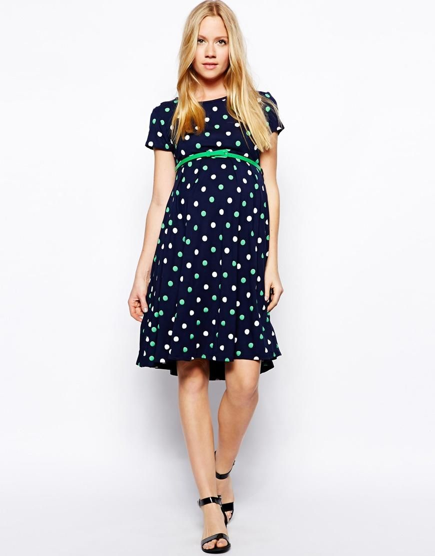 Asos maternity asos maternity exclusive spot skater dress with asos maternity asos maternity exclusive spot skater dress with belt and cap sleeve at asos ombrellifo Gallery