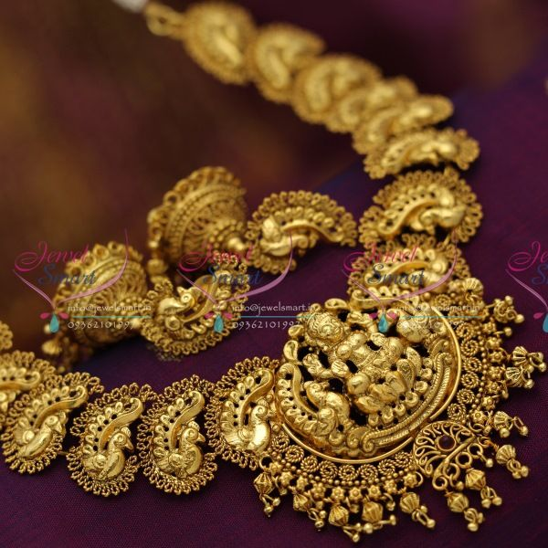 lakshmi-god-antique-gold-plated-exclusive-real-look- : antique gold plated jewellery - pezcame.com