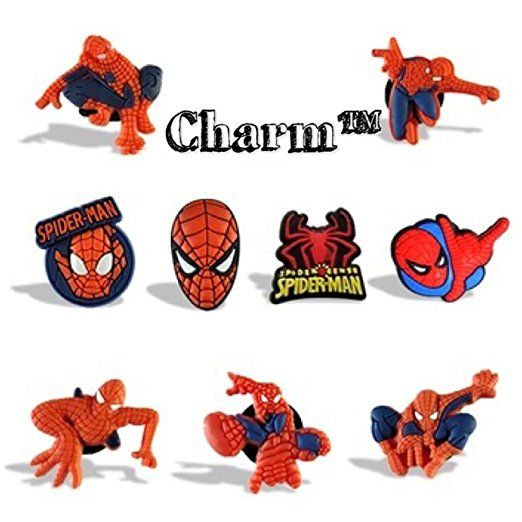 c5f153bf7 Spiderman JIBBITZ Set of 5 Assorted PVC Crocs Natives (Generic) Party  Favors by CharmTM