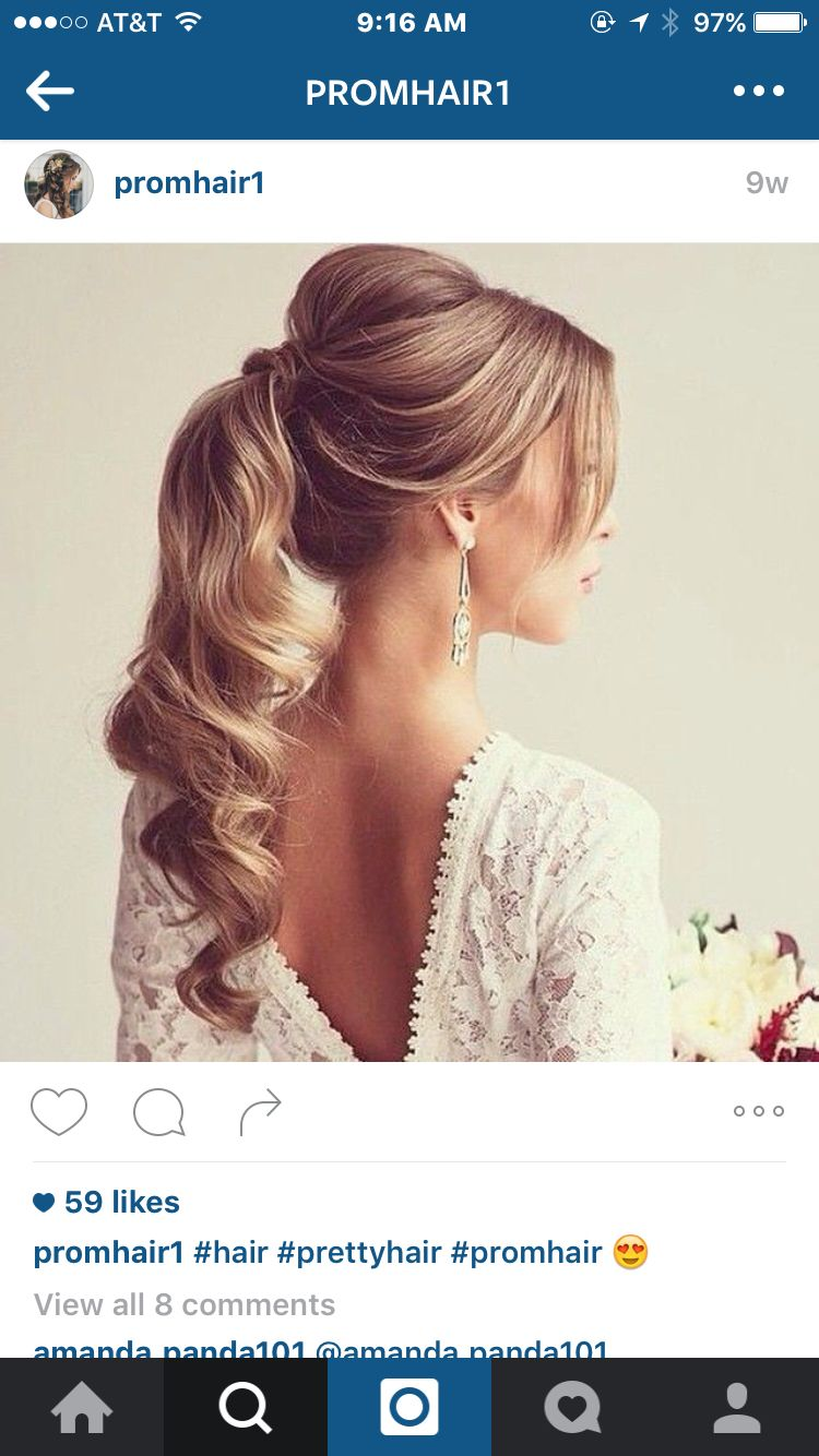 Updo pony prom hair hairlooks pinterest prom hair updo and makeup