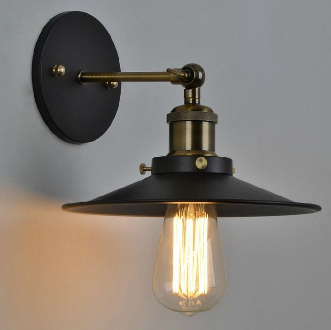 Vintage american country personality antique industrial black wall vintage american country personality antique industrial black wall sconce lamp bathroom beside home decor lighting fixture aloadofball Gallery