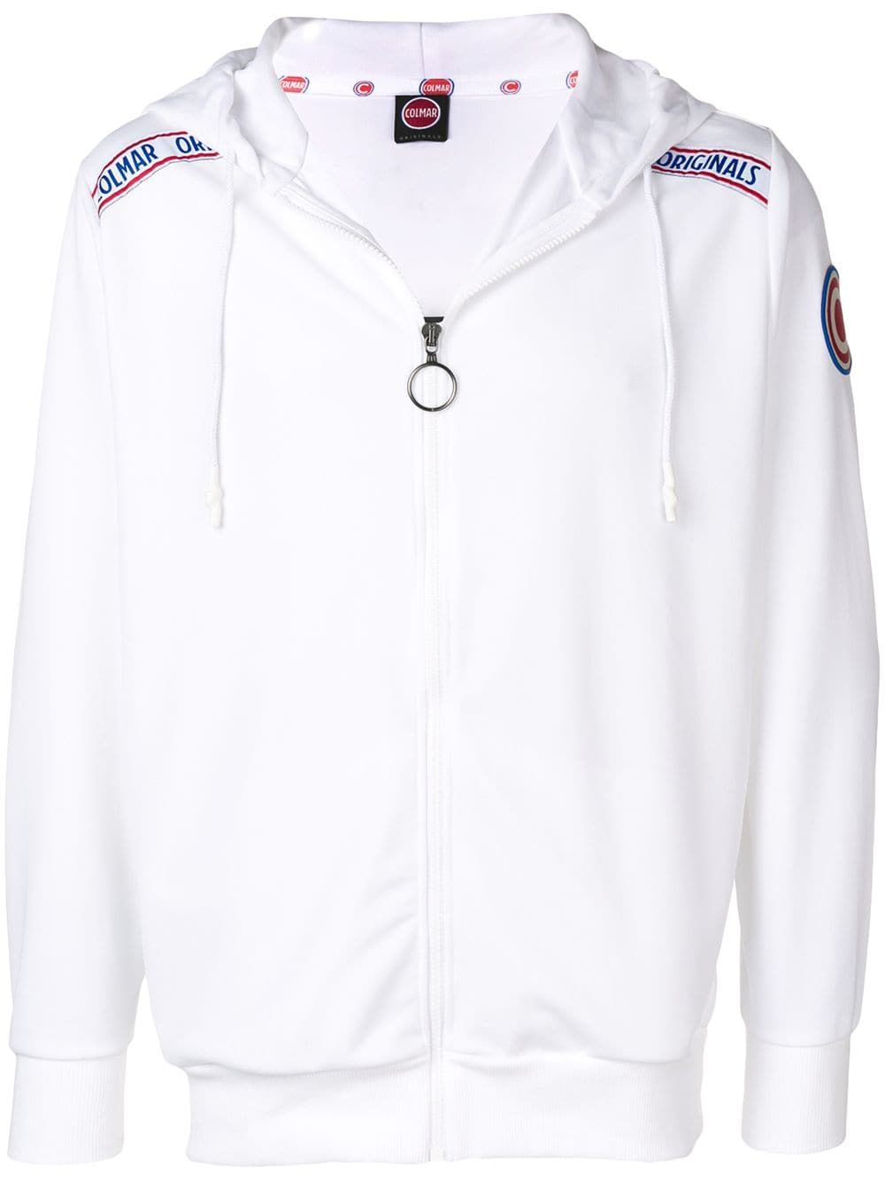 Colmar logo zip-up hoodie - White in 2019 | Products