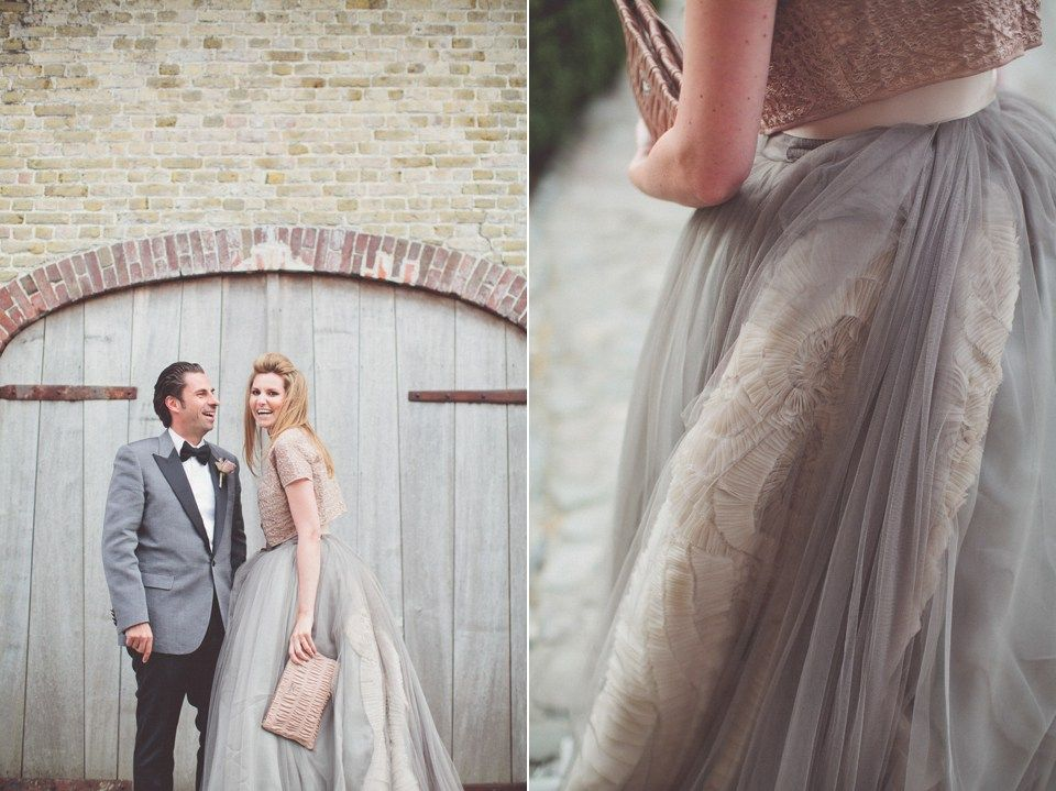 A Taupe Grey Vera Wang Gown for a Vintage Glamour Farm Wedding ...