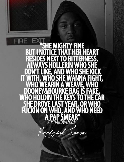 Kendrick Lamar (With images)   Rap quotes, Rap lyrics ...