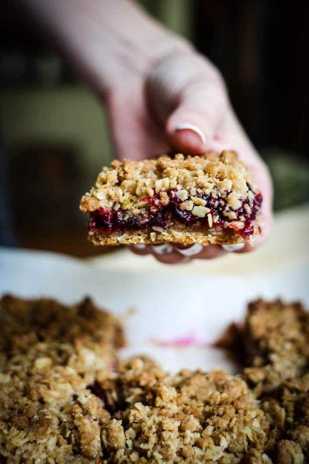 Gluten Free Cherry Oat Bars Oat Bars Dessert For Dinner