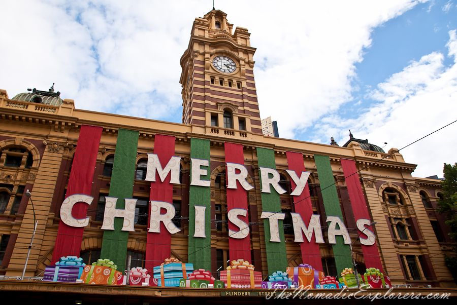 Christmas Decorations In Melbourne Day Walk The Nomadic Explorers Australian Travel Blog Christmas In Australia Australian Travel Christmas Decorations