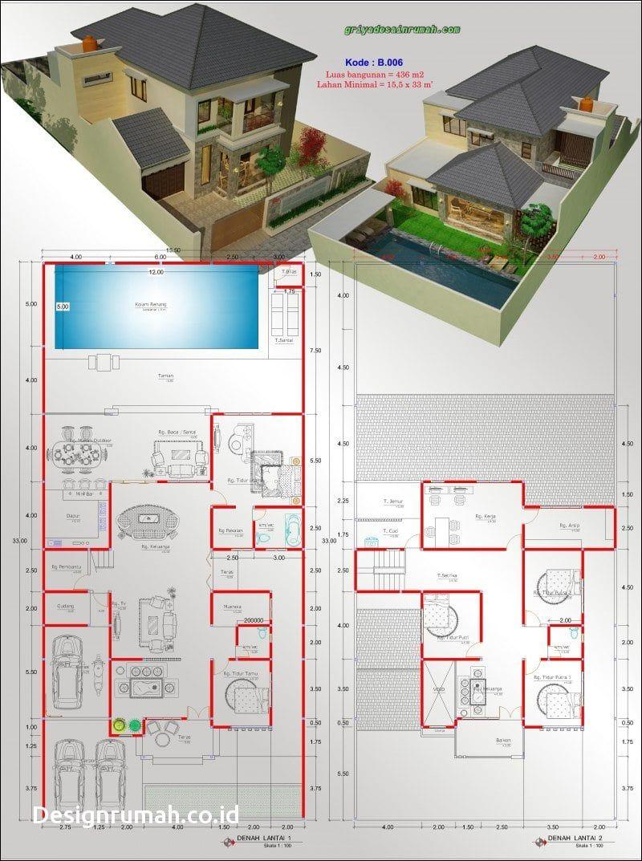 55 Desain Kolam Renang Dalam Rumah Sederhana Gratis