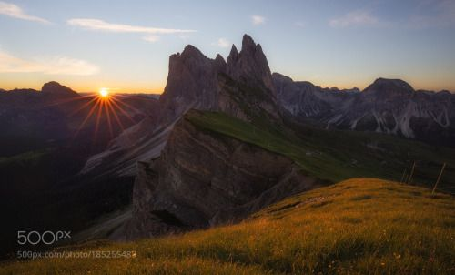 Seceda by jackbolshaw  north italy dolomites 2016 Summer Sunrise Park Star Photography Sun Jack National Seceda Odle Ridgel