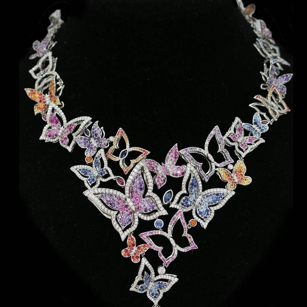 @finejewelsofnyc.   At JCK Booth B57079 #platinum #butterflys #finejewelry