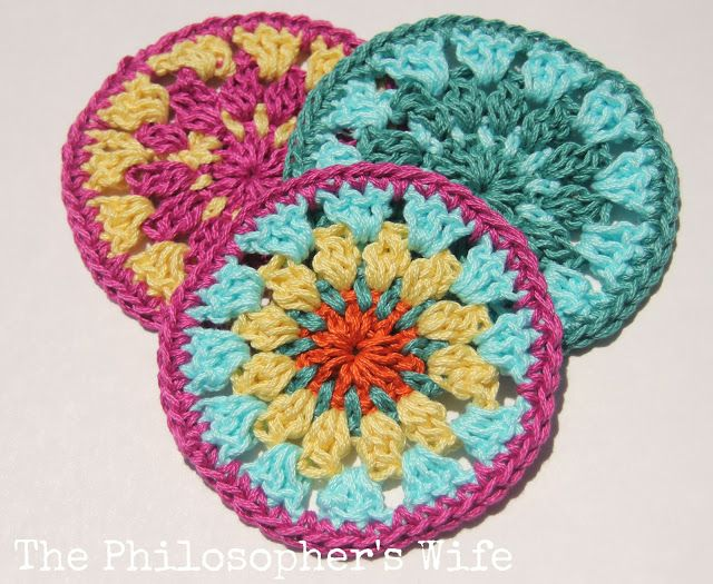 The Philosopher\'s Wife: Free Crochet Coaster Pattern using Lion ...