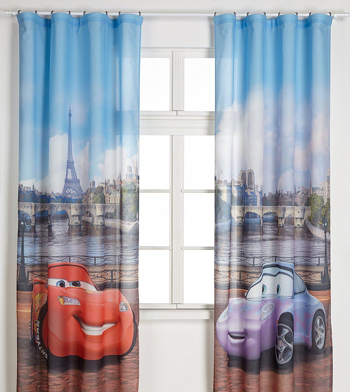 Autozimmer Disney Cars Vorhange Fur Das Kinderzimmer Gardine