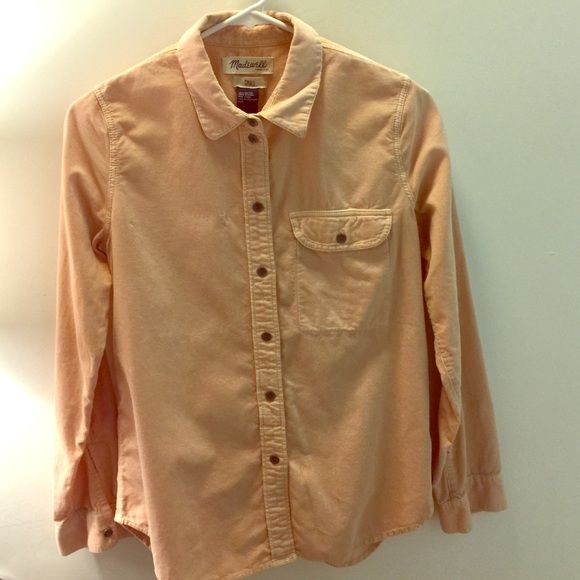 Vintage Madewell Corduroy Button Down Vintage circa 2011, pale salmon color, worn twice Madewell Tops Button Down Shirts