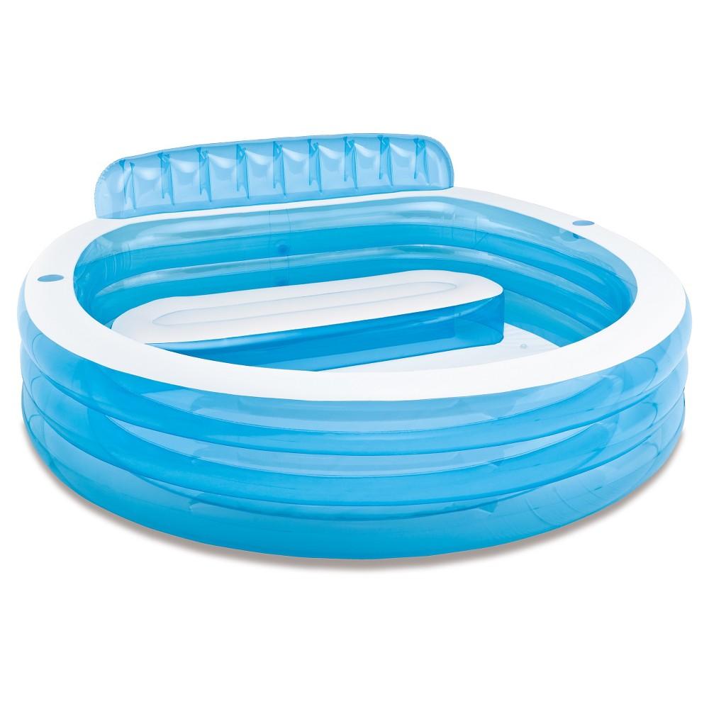 Intex 88 x 85 x 30 swim center family lounge inflatable - Intex swim center family lounge pool blue ...