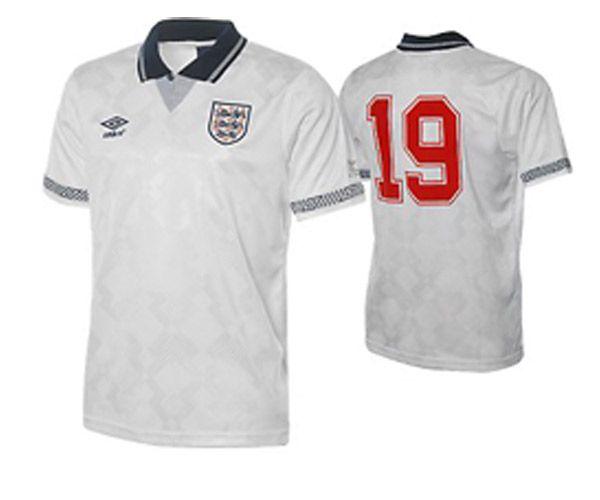 England 1990 World Cup Retro Football Shirt Gazza Toffs Retro Football Shirts England Football Shirt Football Shirts