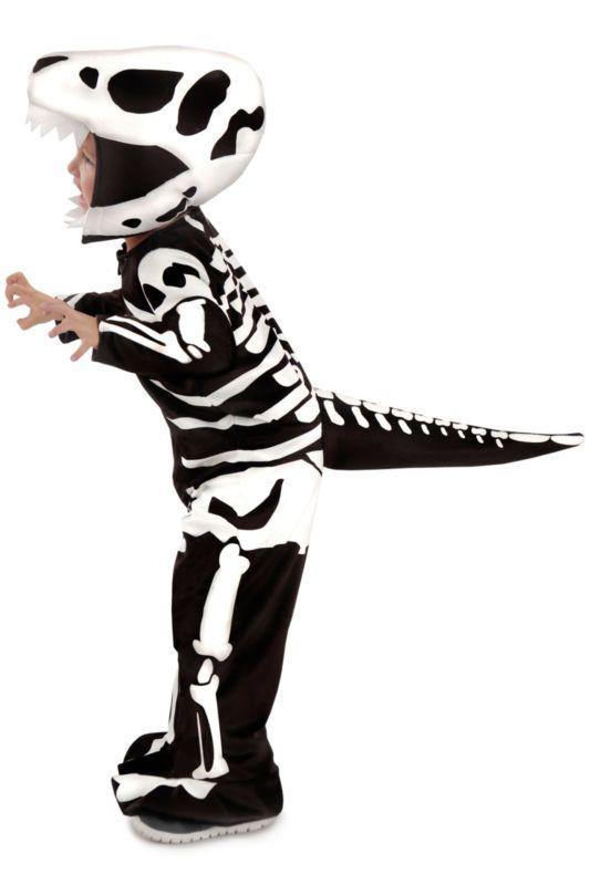 Skeleton Dinosaur Costume T-REX Dragon Godzilla Fossil Child 3 4 5 6 7 8 10