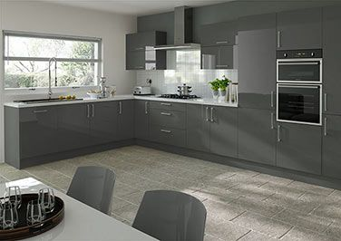Kitchen Ideas Grey high gloss kitchen cabinet grey ~ http://makerland